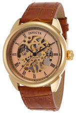 Invicta 17186 Men's Specialty Analog Mechanical Hand Wind Brown Leather Watch