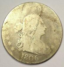 1806 Draped Bust Quarter 25C Coin - Rare Early Date Coin!