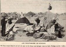 IMAGE 1911 PRINT SOUDAN SUDAN TEINTURIER DRY CLEANER