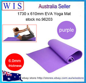 6mm Thick EVA Yoga Gym Pilate Mat Fitness Non Slip Exercise Board,Purple-96203