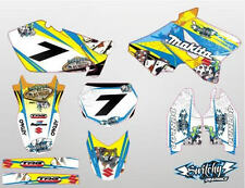 KIT ADESIVI GRAFICHE GAMBLING YELLOW SUZUKI RM 125 250 2003 - 2008 DEKOR DECALS