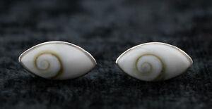 Locken Ohren Auge Shiva Ø 15 MM / Ste Lucie-Silber Massiv 925-W54-10154