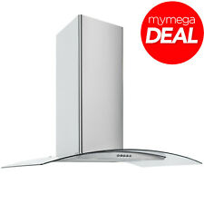MyAppliances REF28372 70cm Stainless Steel Curved Glass Cooker Hood Extractor