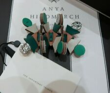 Anya Hindmarch Powder Pink / Silver / Green LEATHER HAIR CLIP / SLIDE - RRP £85