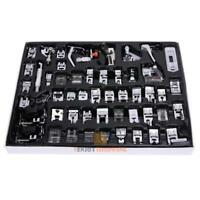 52x Domestic Sewing Machine Foot Presser Feet Kit Set For Brother Singer Janome