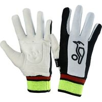Kookaburra Cricket Padded Chamois Full Finger Cotton Wicket Keeping Inner Gloves