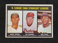 1967 Topps #238 NL Strikeout Leaders Sandy Koufax Jim Bumming Bob Veale