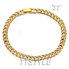 TT 18K Gold Filled Curb Chain Bracelet (BBR200)NEW
