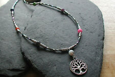 Tree of Life Chakra Beads Necklace Healing Reiki Hippy Chakra Necklace