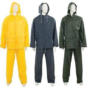 Silverline Waterproof Rain Suit Jacket & Trousers Set Women's Men's Rain Coat