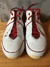 Women's Nike Red White Shox Basketball  Size 8 Used Shoes