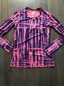 Under Armour Womens M  HeatGear Fitted Tie Dye Long Sleeve Athletic Shirt