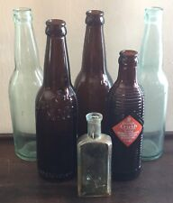 OLD VTG ANTIQUE UTICA NY EAGLE ONEIDA ORANGE CRUSH W SAWENS & CO BOTTLE LOT OF 6