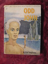 RARE Olaf Stapledon ODD JOHN Galaxy Science Fiction Novel #8 EMSH Cover