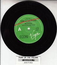 "M.A.R.R.S.  Pump Up The Volume 7"" 45 rpm record + juke box title strip MARRS"
