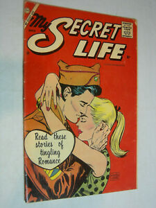 My Secret Life #22 G/VG Charlton stories of tingling romance