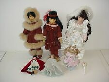 Lot of 6 Porcelain Dolls
