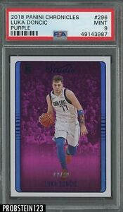 2018 Panini Chronicles #296 Luka Doncic RC Rookie Purple #/49 PSA 9 Centered