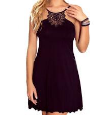 "Black Lace Chemise Nightdress Dress Nightie ""Gaja"" - S M L XL"