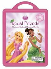 Book and Magnetic Play Set: Royal Friends Disney Princess Tiana & Rapunzel NEW