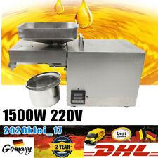 1.5KW Automatische Ölpresse Maschine Ölmühle Öl Presse Extraktion Expeller 220V