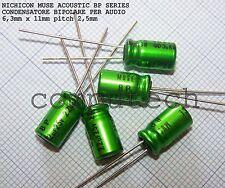 22uF 25V NICHICON BP MUSE ACOUSTIC Condensatore bipolare per audio 2 pezzi