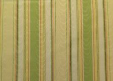 """RICHLOOM PERRINE GREEN STRIPE YELLOW PINK CURTAIN & MORE FABRIC BY THE YARD 55""""W"""