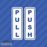 Push Pull Door Sign Entrance Exit Vinyl Decal Sticker
