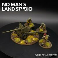 Pro painted 28mm Bolt Action Brit Airborne 6pdr Anti Tank Gun warlord games ww2