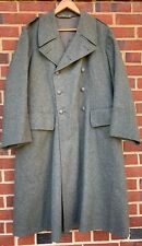 Vintage 1942's Wwii Swedish Army Double Breast Wool Trench Cost Overcoat.