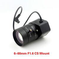 "1.3MP 1/3"" 6-60mm F1.6 CS Mount DC Auto Iris Varifocal IR CCTV Lens for Camera"