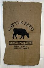 "24""x 40"" Cattle Feed Sack Repro. 10 Oz Hydrocarbon Free Burlap Bag NEW"