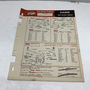 TRICO windshield wiper Kaiser Dealer Installation system plans 1947-1951