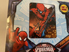 SPIDERMAN SINGLE LAYER FLEECE THROW WITH BLANKET STITCHED EDGE NEW