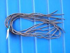 "2 pair of 48"" oval shoe laces - 2 tone brown/beige nylon heavy duty hiker"