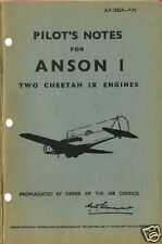 PILOT'S NOTES: AVRO ANSON I-CREW TRAINER (36 Pages)+FREE 2-10 PAGE INFO PACK