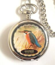 Kingfisher Bird Wildlife Picture Pocket Watch Bxd G'tee