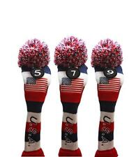 5 7 9 USA GOLF Driver Headcover Red White Blue KNIT Head Covers Headcovers