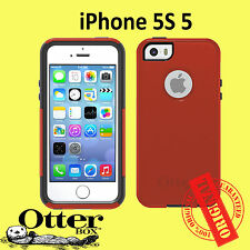 GENUINE OtterBox Commuter case for iPhone 5 5S Orange Grey Brand New