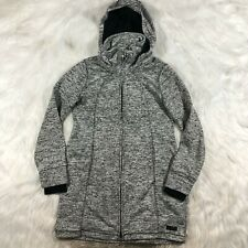Kenneth Cole Reaction Womens Medium Full Zip Long Knit Hooded Sweater Jacket