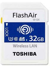 TOSHIBA FLASHAIR W-04 WIRELESS LAN SDHC 90MB/sR 70MB/sW 32GB C10 MEMORY CARD st