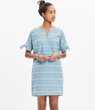 MADEWELL embroidered tie-sleeve dress S NWT$138 value