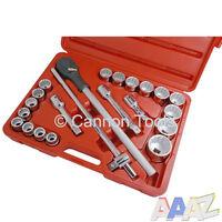 22 Pc 3/4'' inch Dr 19-50mm Socket Ratchet Extension Garage Workshop Tool Set