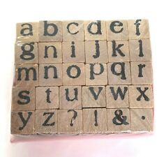 Miniature Alphabet Stamps 30 Stamps Lowercase Letters abc Craft