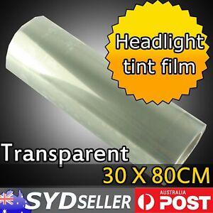 Headlight Tint Film Car Van Tail Fog Lamp Wrap Clear Overlay Sheet DIY 30 x 80cm