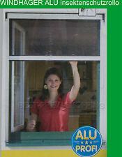 WINDHAGER Insektenschutz Fensterrollo ALU braun 80 x 160 cm Insektenrollo Klemm