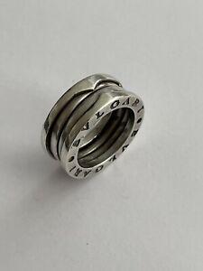 Vintage 925 Silver Bulgari Bvlgari Band Dress Ring Size N 1/2 9.8 Gram