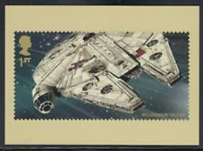 Great Britain Millennium Falcon Star Wars Royal Mail Stamp Card