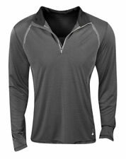 Asics Top - Shosa 1/4 Zip Pullover Black and Gray - Size Large