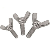M3 M4 M5 M6 M8 M10 A2 304 Stainless Steel Wing Bolts Wing Bolt Nut Butterfly Screw DIN 316
